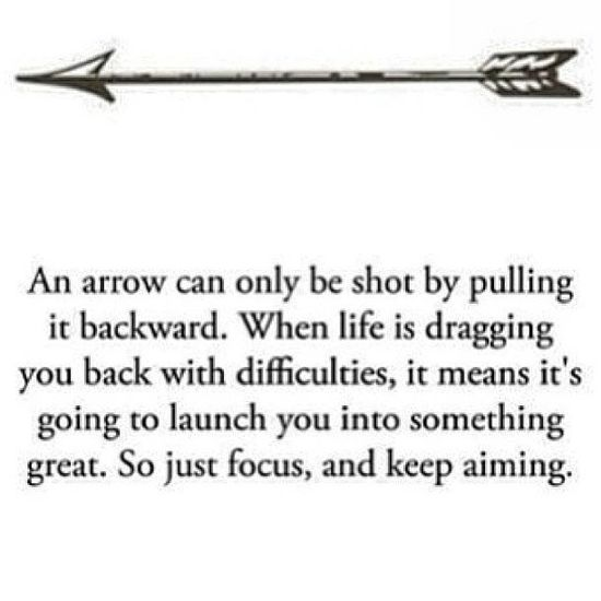 An arrow can only be shot bu pulling it backward.