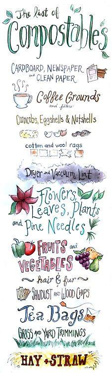 Liste des compostables
