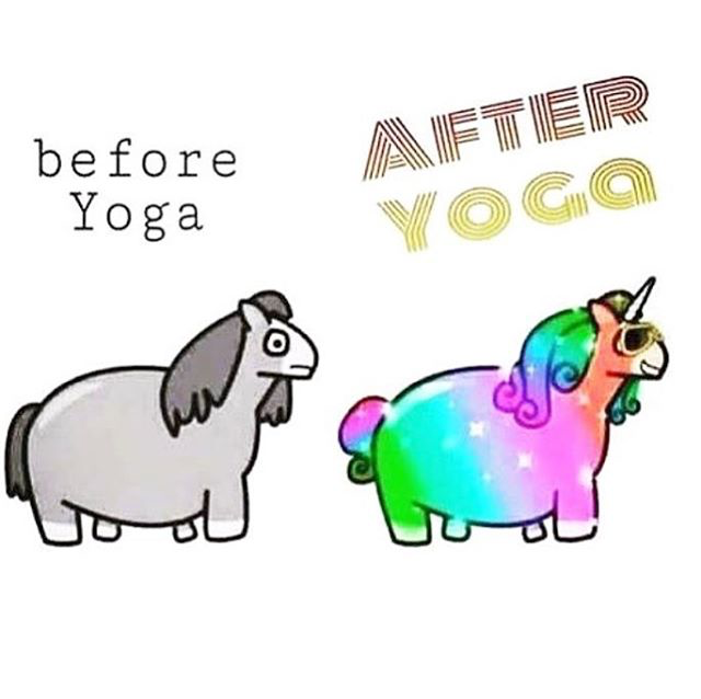 Before yoga, after yoga