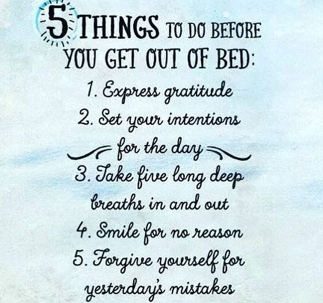 5 things to do before you get out of bed